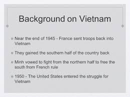 Half Of The United States The Vietnam War Chapter 22 Section 1 Background On Vietnam