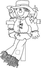 scarecrow coloring pages printables kindergarten printable