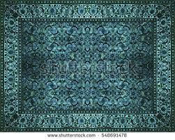 Teal And Gold Rug Persian Rug Stock Images Royalty Free Images U0026 Vectors Shutterstock