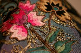 Antiqued Pink And Fuschia Beaded Nightshades Fuschia Peony U0026 Butterfly Beaded Shade On Hand