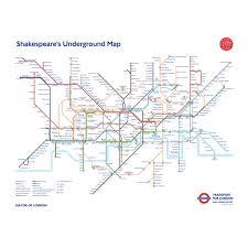 map of the underground in shakespeare s underground map poster shakespeare s globe
