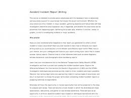 sample of accident report writing mickeles spreadsheet sample