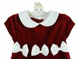 rare editions christmas dress red velvet christmas dress red