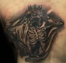 white and black ink male anubis upper back tattoo designs tattoo