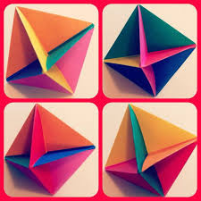 Origami Paper Works - how to make an origami modular spinner snapguide