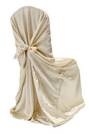 universal satin self tie chair cover champagne new tone 2012 at
