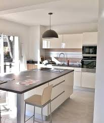 deco maison cuisine ouverte deco maison cuisine ouverte cuisine ouverte marron grise