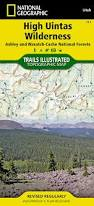 Zip Code Map Utah by High Uintas Wilderness Map National Geographic Maps Trails