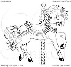 100 carousel horse coloring pages horse in field coloring page