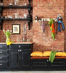 brick kitchen ideas glass door knobs for cabinets kitchen ideas with brick walls