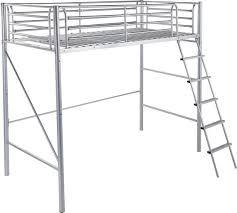 High Sleeper Bed With Futon Buy Home Sit U0027n Sleep Metal High Sleeper Futon Bed Frame Pink At