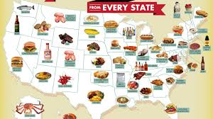 Beer Map Usa by A Map That Shows The Signature Food From Each State In The Usa