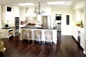 kitchen modern white kitchens with dark wood floors tv above front