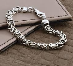 mens silver bracelet chain images Men 39 s heavy silver chain detail bracelet by hurleyburley man jpg