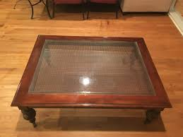 ethan allen glass coffee table coffee table glass r t furniture old world round coffee table