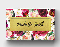 Business Card Wedding Floral Business Card Etsy