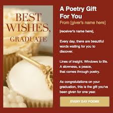 Words For Graduation Cards Give The Gift Of Every Day Poems