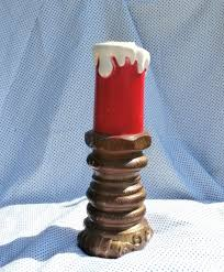 red candle blow mold lamp light 1969 christmas by empire plastic