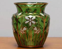 Antique Hand Blown Glass Vases Antique Glass Vase Etsy