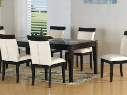 White Leather Dining Room Set Kitchen 36 Glass Top Dining Room Table Glass Top Wooden Base