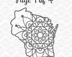wisconsin mandala henna tattoo filigree zentangle intricate state