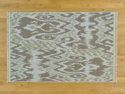 Flat Rug 4 U0027x6 U0027 Soumak Flat Weave Ikat Design Hand Woven Pure Wool Oriental