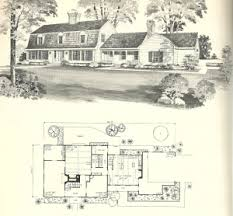 Gambrel House Floor Plans Vintage House Plans 1970s New England Gambrel Roof Homes