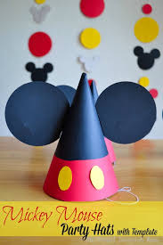 diy mickey party hats with template our homemade life