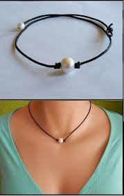 choker style pearl necklace images How to make a single pearl choker necklace necklace wallpaper jpg