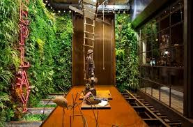 adorable indoor home garden idea with statue decor and living