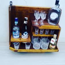 appendi bicchieri bar bottigliera da parete in legno con porta bicchieri per la casa e