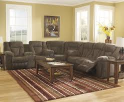 ashley furniture luxury sets sectional brown sofas with recliners