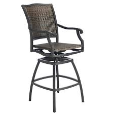 hampton bay swival patio bar chairs outdoor bar stool replacement