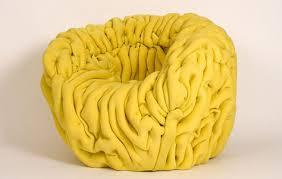 French Yellow Chair Fabric Phenomenon The Ondule Chair By Mattis Esnault 3rings