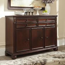Kitchen Servers Furniture Leahlyn Reddish Brown Buffet Buffets Sideboards And Servers