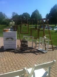 vintage and rustic wedding setup from shamrock garden florist in