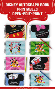 personalized autograph books creative diy disney autograph books great ideas to make for the