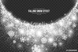 falling snow effect on transparent background vector illustration