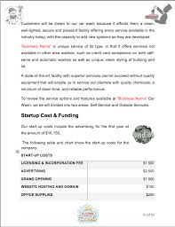 auto detail car wash business plan sample pages black box