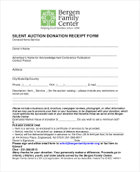 sample donation receipt form 8 free documents in pdf