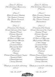 vow renewal program templates free image julius kristine 10th wedding pixteller 56892