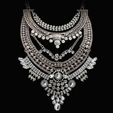 long silver statement necklace images Long chain statement necklace club factory jpg
