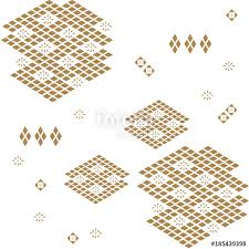Japanese pattern background vector Gold geometric shape with