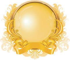 gold ribbons gold ribbon graphics pattern vector free vector 4vector