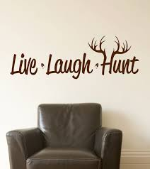live laugh hunt wall decal hunting vinyl decal deer by lucylews