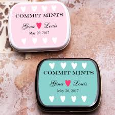 mint to be favors commit mint personalized mints personalized wedding mint tins