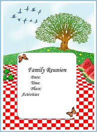 family reunion booklet sle the world s catalog of ideas