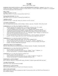 Resume Fill In The Blank Teacher Fillable Resume Fill Online Printable Fillable Blank