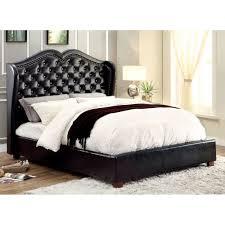 monroe california king size bed black finishcm7016bk ck bed