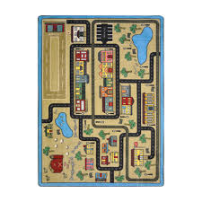 Kid Rugs Other Rugs Town Activity Rug Features Roads